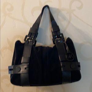 Authentic Michael Kors black suede bag